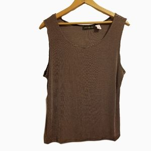 ^Harris/Wallace stretchy striped tank large